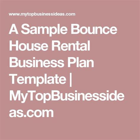 bounce house rental business plan best 20 bounce house rentals ideas on pinterest party