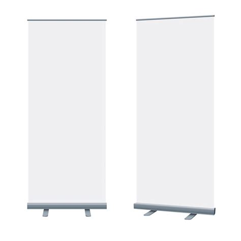 pull up banners mock up blank packaging templates