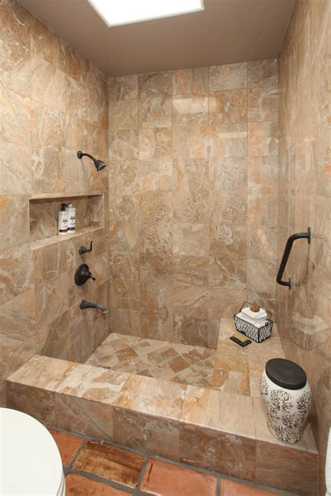 Modern Master Bedroom by Small Tub Shower Combo Bathroom Mediterranean With None