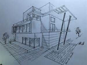 Architecture modern house design 2 point perspective view youtube law