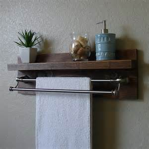 bathroom shelves with towel bar modern rustic bathroom shelf with 24 brushed nickel by