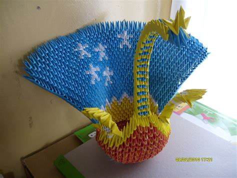 3d Origami Peacock - 3d origami peacock by xexy1515 on deviantart