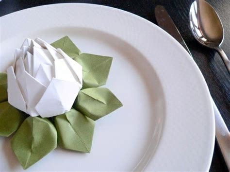 Paper Napkin Folding Flower - paper napkin folding create festive