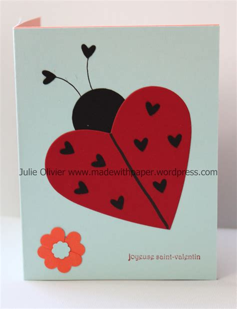 carte st valentin made with paper