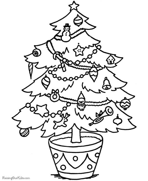 printable xmas pics 113 free christmas tree coloring pages for the kids