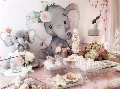 Pink And Grey Baby Shower Ideas by Pink And Gray Elephant Baby Shower Baby Shower Ideas