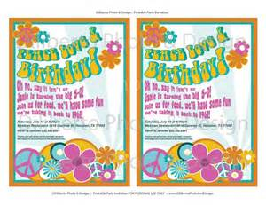 items similar to printable invitation hippie 1960s birthday by dilibertodesign on etsy