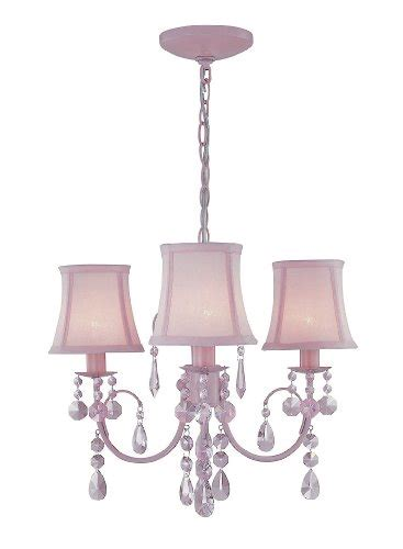 Ls And Chandeliers Lite Source Ls 19528pink Sofie 3 Light Chandelier With Crystals And Mini L Shades Pink