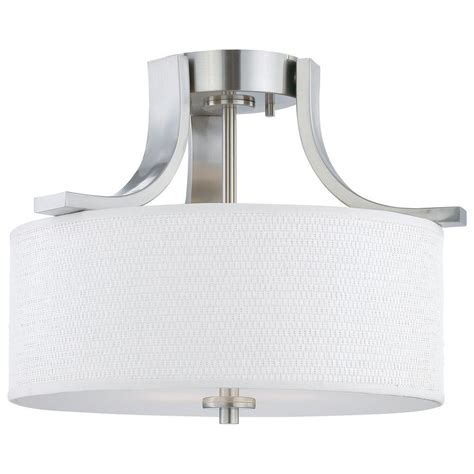 A Guide To Where Nickel Ceiling Lights Best Match Warisan Lighting Lighting Pendenza 2 Light Brushed Nickel Ceiling Flushmount Sl860978 The Home Depot