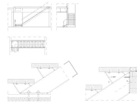 ringhiera in ferro dwg scale acciaio gradini legno dettaglio dwg dwglab
