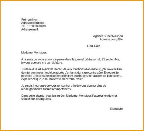 Exemple De Lettre Administrative Simple 6 Lettre De Motivation Simple Lettre Administrative