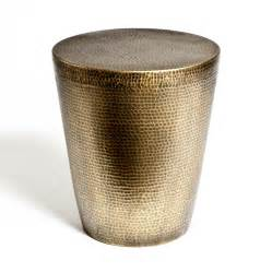Small Round Glass Vases Brass Drum Side Table Mitchell Hill Charleston Home