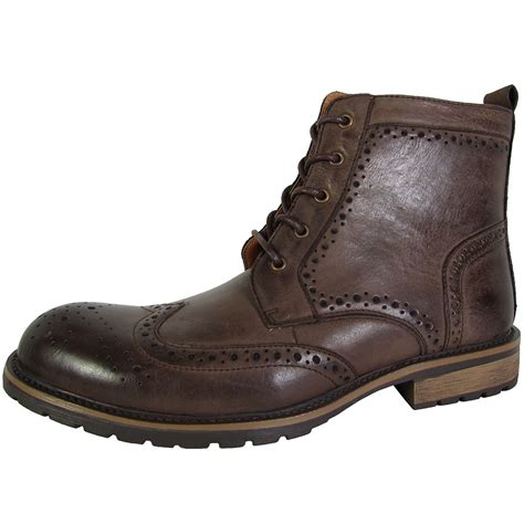 mens ankle boots steve madden mens sprocket wingtip ankle boot shoes