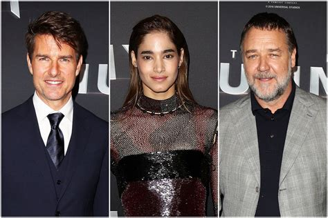 tom cruise sofia boutella tom cruise sofia boutella and russell crowe at quot the mummy