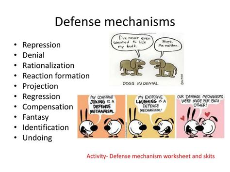 Defense Mechanisms Worksheet Answers