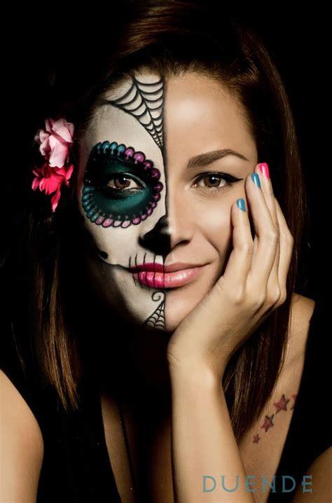 imagenes de uñas pintadas ala mitad catrinas maquillaje mitad de la cara