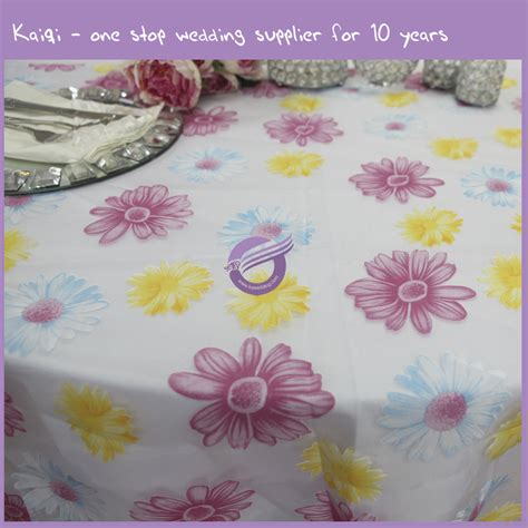 Flowery Organza colorful flower organza floral table cloth mq0010f kaiqi