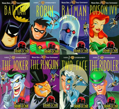 The Pinguin Based On Dc Comic Character batman animated character themed vhs releases i m