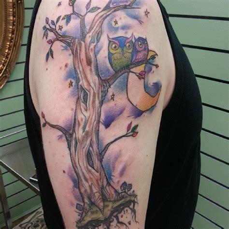 watercolor family tattoo 27 owl family tattoos ideas