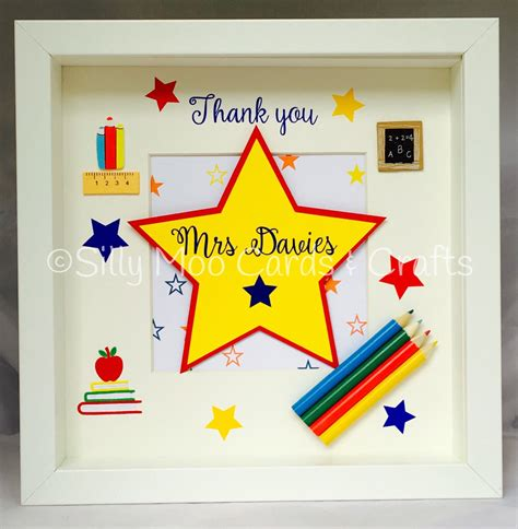 Thank You Gifts For Teachers Handmade - lovely thank you box frame the design and