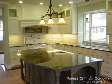 Kitchens With Green Countertops by Emerald Green Granite Countertops Redwood City California