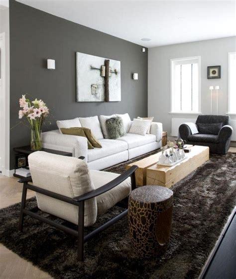 canapé gris et blanc peinture salon grise 29 id 233 es pour une atmosph 232 re 233 l 233 gante