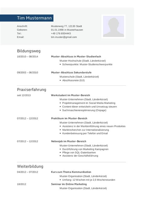Bewerbung Muster Lebenslauf by Bewerbungsmuster F 252 R Informatiker Lebenslauf Designs