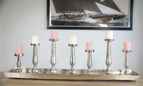 Kerzenhalter Tablett by Kerzenhalter Kerzenst 196 Nder Auf Tablett Aluminium Silber
