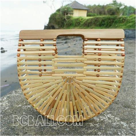 Bamboo Handmade - bamboo bags fan design base color summer season handmade