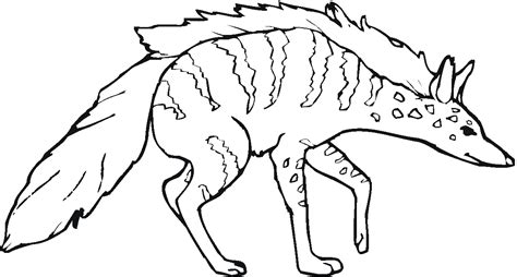 hyena coloring page coloring home