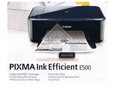 Printer Canon E500 canon inkjet printer photo printer pixma ink efficient e500 uos corporation