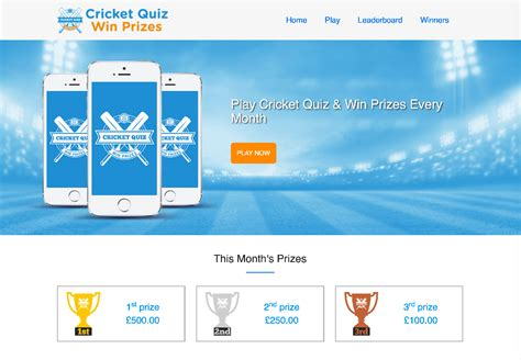 Money Winning Quiz - cricket quiz win prizes exercise for brain money for your pocket
