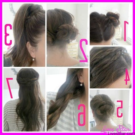 easy hairstyles for school step by step easy hairstyles for hair school step by livesstar