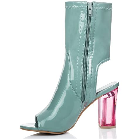 bolivia green ankle boots shoes from spylovebuy