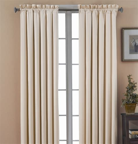 Black Put Curtains Eclipse Curtains Canova Blackout Drapes And Valance Set In Ivory Canova Blackout Drapes And