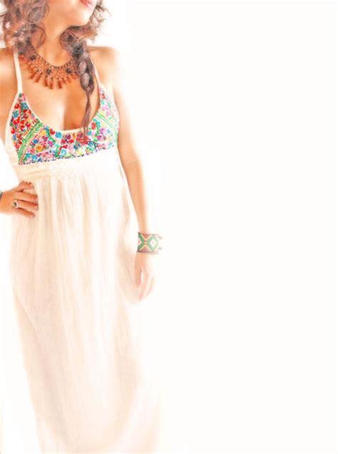 Aida Maxy Dress handmade mexican embroidered dresses and vintage treasures from aida coronado flor de mar