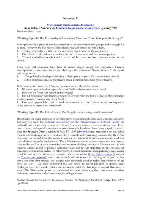 Montgomery Boycott Essay by Montgomery Boycott 1956