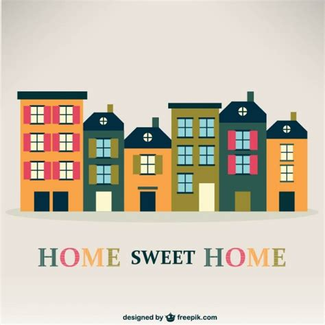 free cartoon house pictures house cartoon vector home sweet home vintage vector vector free download