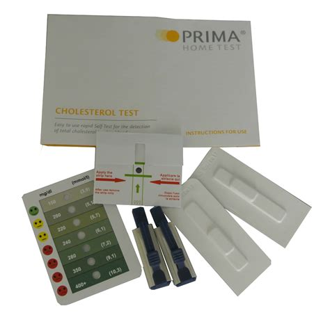 prima home cholesterol total only test 2 tests per pack