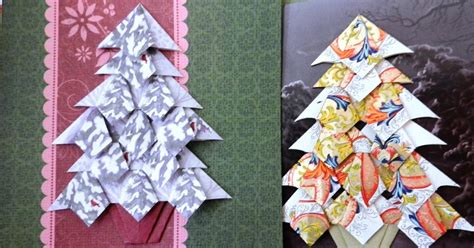 Folding Paper Trees - paperfacets tea bag folding tree for greeting cards