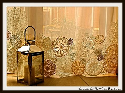 doily curtains sheer doily curtains another good use for my collection
