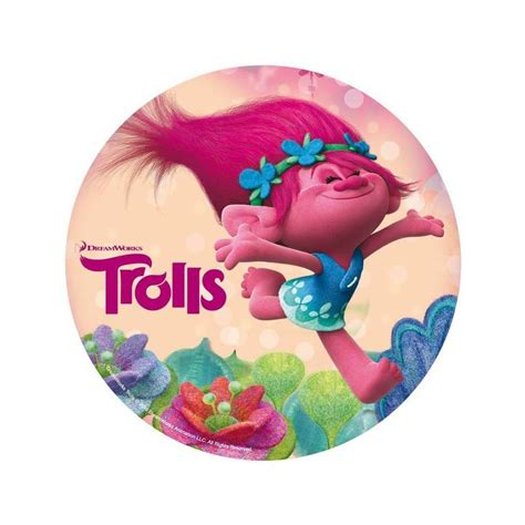 Football Cake Decorations Disque Azyme Les Trolls 1 Troll Rose Cake Design Et