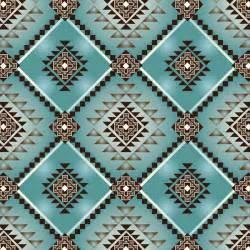 45 home decor print fabric southwest native motifs turquoise