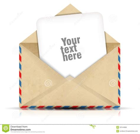 Envelopes With Paper - open envelope with paper royalty free stock image image