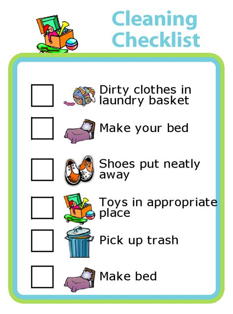 how to clean a bedroom step by step get organized with picture checklists for kids the trip clip