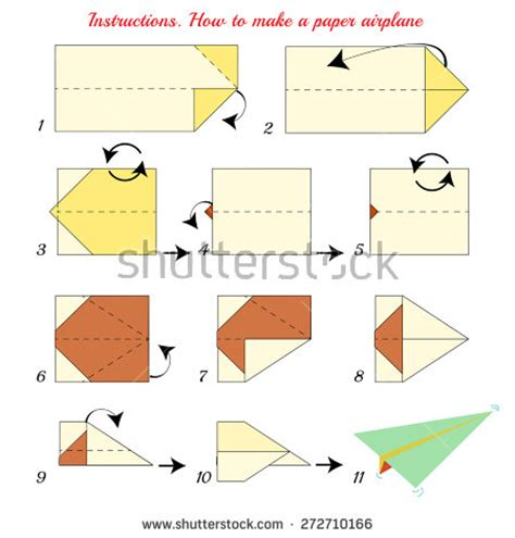 Steps On A Paper Airplane - airplane steps stock images royalty free images vectors