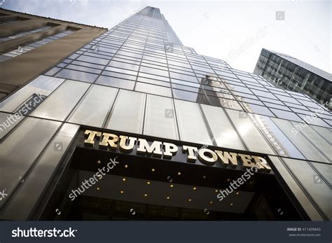 trump tower gold pan up stock video footage 9571267 new york mar 27 2016 low stock photo 411409843 shutterstock