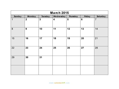 printable calendar 2015 for march march 2015 calendar blank printable calendar template in
