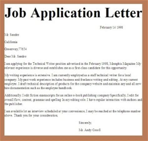 application letter sle of any position more about an application letter sle