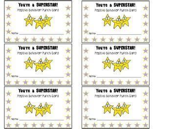 classroom card template student rewards punch cards cool ideas